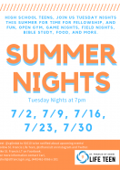 Summer Nights for High School Students